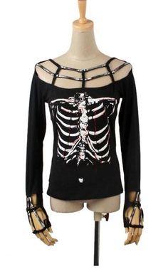 Skeleton Skull Top - Tops