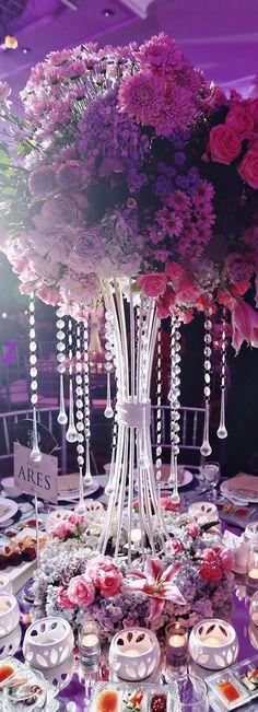 Table Landscape - Pink & Purple