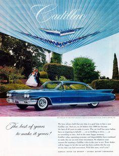 Cadillac Fleetwood Sixty Special Sedan 1960 - Mad Men Art: The 1891-1970 Vintage Advertisement Art Collection