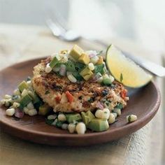 These spicy shrimp cakes are a delicious way to cook fresh shrimp, especially when paired with the homemade corn and avocado salsa.