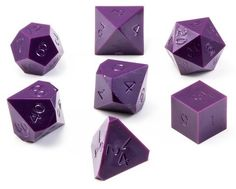 7 Piece Opaque Purple Dice Set Gamescience dice may be different from other RPG dice you've...
