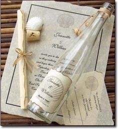 A Little Inspiration From The Movie Message In Bottle Wedding Invitation Inc