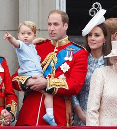 Pin for Later: 37 Ridiculously Cute Prince George Pictures When He Directed Mum and Dad's Attention