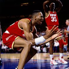Robert Horry getting emotional in the 1994 NBA Finals.    For the latest Houston Rockets news and updates, visit www.rockets.com.