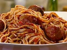 main course, spagetti and meatballs. Its another warm your insides type dish.