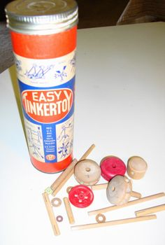 Tinkertoy  Toys/Games from growing up in the '50's & '60's.