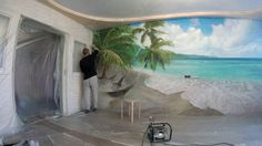 Художественная роспись,аэрография в интерьере,рисование на стене