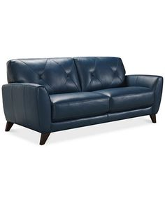Myia Leather Sofa, Only at Macy's - Couches & Sofas - Furniture - Macy's
