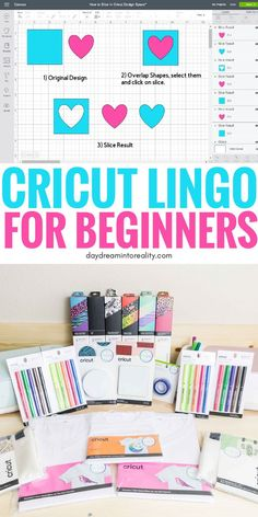 Cricut Lingo – The Most Important Concepts in the Cricut WorldHello Daydreamers!I thought it would be fun to write a Cricut Dictionary with a brief description of some of the essential concepts in the Cricut Tips And Tricks, Vinyl Crafts, Diy And Crafts, Fun Crafts, Cork Crafts, Wooden Crafts, Paper Crafts, Marker, Silhouette Cameo