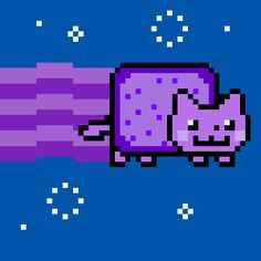 Purple Nyan cat | cute awesome nyan yellow cat panda choco blue rainbow lemon purple ...