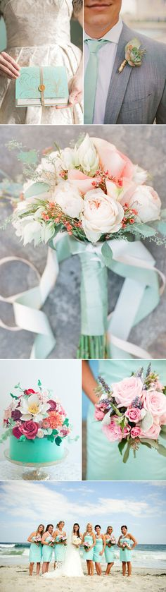 OMG this wedding inspiration is heaven. Love that spa blue skinny tie on the groom!!!