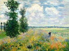 Клод Моне - Poppy Field, Argenteuil, 1875. Клод Оскар Моне