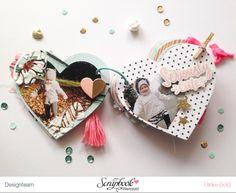 "Mini ""Love You"" mit Crate Paper ""Hello Love"" von Ulrike Dold Mini Albums Scrap, Mini Scrapbook Albums, Scrapbook Journal, Scrapbook Paper Crafts, Friend Scrapbook, Birthday Scrapbook, Project Life, Photo Album Scrapbooking, Crate Paper"