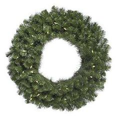 Adorn your home in holiday style with a Vickerman Douglas Fir Pre-Lit Wreath with Warm White LED Lights. Hang this beautiful wreath on a wall in any room where you want to bring a cozy Christmas feeling for your family and guests to enjoy. Pre Lit Wreath, Lighted Wreaths, Green Wreath, Berry Wreath, Country Christmas Decorations, Farmhouse Christmas Decor, Holiday Decor, Artificial Christmas Wreaths, Holiday Wreaths