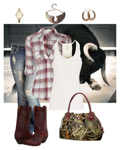 """""""Damned Ol Rodeo"""" by darbie73 ❤ liked on Polyvore featuring Denim & Supply by Ralph Lauren, Dan Post, Rosita Bonita and FOSSIL"""