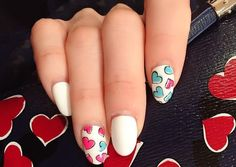 red nail art-white nail art-nail art-nail art designs-nailart-nails (44) - 51 new nail art design - Sade Kadınlar