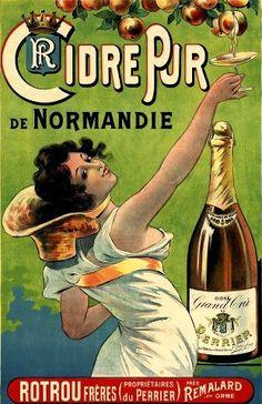 Le fameux cidre de normandie, peu alcoolisé, à deguster avec des crepes, france