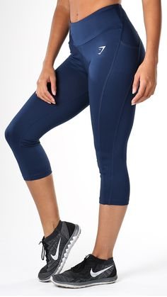 Sculpture Cropped Sapphire Blue leggings