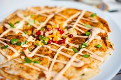 Lobster Quesadillas  with Chipotle-Jalapeño Sauce and Pico de Gallo from 12tomatoes.com