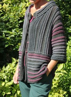 Rib from Almond - Sweaters - Maglieria Knitting Blogs, Knitting Designs, Knitting Yarn, Knitting Projects, Hand Knitting, Knitting Patterns, Crochet Patterns, Crochet Wool, Crochet Jacket