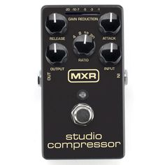 MXR M76 Studio Compressor Pedal The MXR design team took a classic recording studio fixture and stuffed it into a pedalboard-friendly box. The MXR Studio Compressor features Attack, Release, Ratio, In