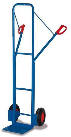 GTARDO.DE:  Stahlrohrkarre, Tragkraft 250 kg, Maße 551 x 521 x 1600 mm, Schaufel 300 x 250 mm, Rad 260 x 85 mm, Höhe 1600 mm 160,00 €