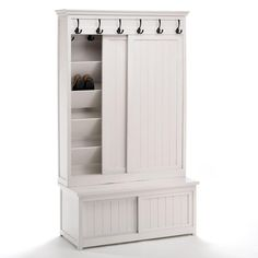Hall Shoe Cupboard, White | ACHICA