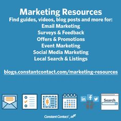 Looking for a video on how to write the perfect subject line? Or maybe you want a guide to help you grow your email list. How about a blog post with ideas on promoting your next event?  Whatever marketing resource you're after, you've come to the right place!