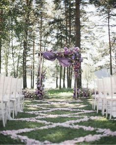 Purple Wedding Flowers 2019 brides favorite weeding color stylish shade of purple-outdoor woodland weddings, fall weddings, spring weddings, wedding ceremony arches, wedding decorations with flowers and chiffon - Lilac Wedding Themes, Lavender Wedding Theme, Purple Wedding Flowers, Flower Bouquet Wedding, Wedding Ideas, Lavender Wedding Decorations, Light Purple Wedding, Rustic Purple Wedding, Lavender Weddings
