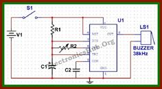 Circuit Diagram of Electronic Mosquito Repellent Resource Link: http://www.electronicshub.org/electronic-mosquito-repellent-circuit/