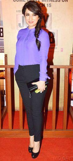 Tisca Chopra at the premiere of 'Jolly LLB' #Bollywood #Fashion