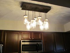 Pottery Barn Inspired Mason Jar Chandelier - Our Hiding Place