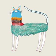 cat illustration, cat art, cat decor, illustrator for hire, logo design, childrens illustrator, designer - Ashley Percival Illustrator
