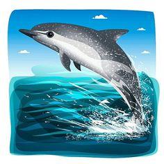 Delfín moteado  - 332 / #365rounds #BICHOSmexicanos #illustrator #illustration #vector #conabio #mexico #dolphin #delfín #sea