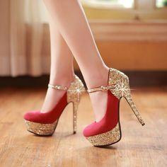 Fashionable Elegant Sequins Wedding High Heels Bride Shoes
