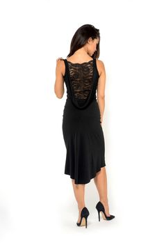 D15 Draped back tango dress with lace 1                                                                                                                                                                                 Más