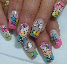 Nail Art Designs, Fingernail Designs, Pretty Nail Designs, Love Nails, Fun Nails, Pretty Nails, Colour Tip Nails, Nail Colors, French Nails