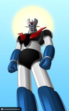 DeviantArt: More Like Grendizer by Retro Cartoons, Classic Cartoons, Robot Cartoon, Cartoon Art, Iron Man Hd Wallpaper, Japanese Robot, Japanese Superheroes, Mecha Anime, Anime Comics