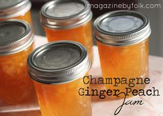 champange ginger peach jam - delicious!!  recipe available via FOLK magazine Issue IV - order your issue today!