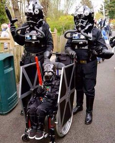 This is 7 year old Luke Armstrong, in his wheelchair that his dad converted into a TIE Fighter. Luke has had to endure 18 heart operations. The Force is indeed strong in him...