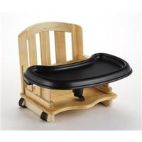 Bamboo Booster Seat with Tray