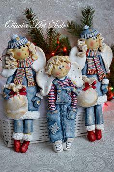 Оливия Art Deko: Зимние ангелы и занятия с массой соляного.
