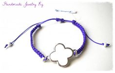 Handmade Jewelry Rg: Bracelet with white cross