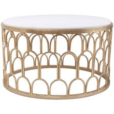 Furniture::Coffee Tables::Sculpted Golden Coffee Table