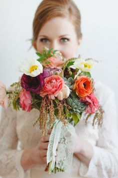 Bright, spring bridal #bouquet | Photography: Whitney Furst Photography - www.whitneyfurst.com Read More: http://www.stylemepretty.com/2014/04/28/bridesmaid-soiree-inspiration-shoot/