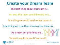 By filling in the blanks, could you create your Dream Team together?