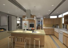 Kitchen Modeled in Sketchup and Rendered with Artlantis
