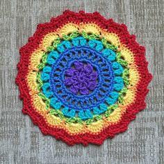 Crochet Rainbow Doily Table Mat Coaster £8.00