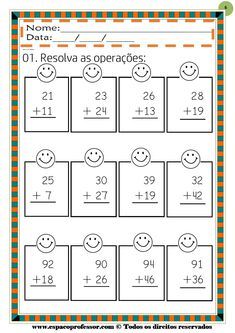 Double Digit Adding & Subtracting w/ NO regrouping Spring Printables Touch Math, 2nd Grade Math Worksheets, Subtraction Worksheets, Tracing Letters, Math Addition, Second Grade Math, School Items, Writing Numbers, Math For Kids