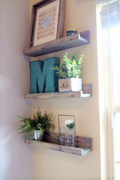 ledge shelf set of 2 rustic floating shelves by